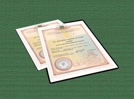 Пример свидетельства регистрации патента на промышленный образец,