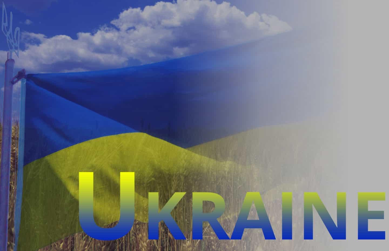 bright dark stained blue white background right ukraine flag 52002
